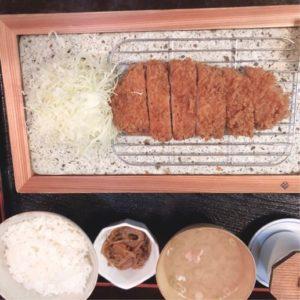 栃木県下野市とんかつ合掌の黒豚とんかつ定食